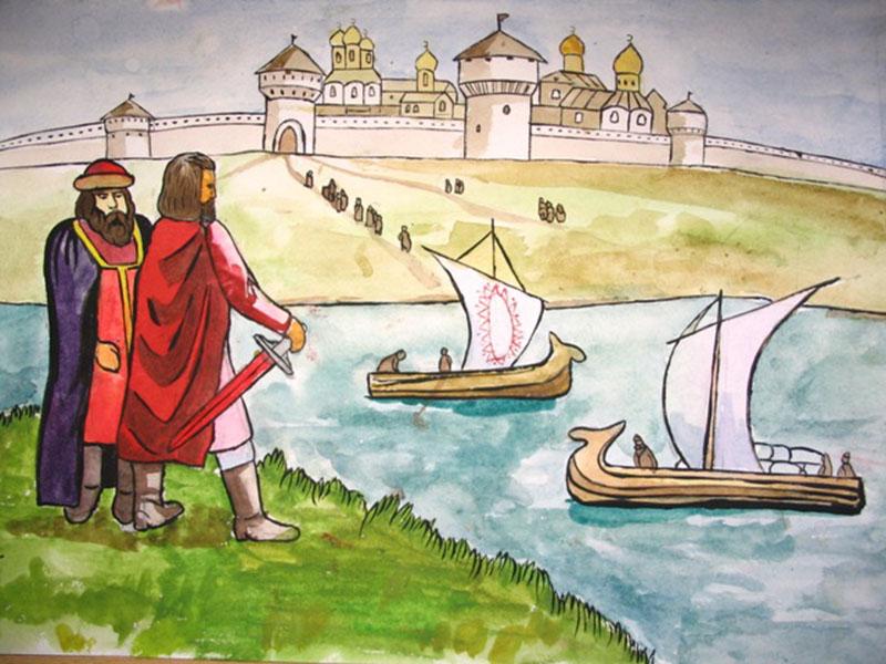Рисунки детей исторические